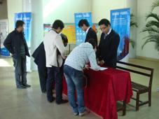 会议签到制造企业成本管理研讨会在龙岩举行