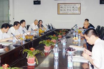 正航软件董事长赖光郎向省领导汇报正航软件发展情况