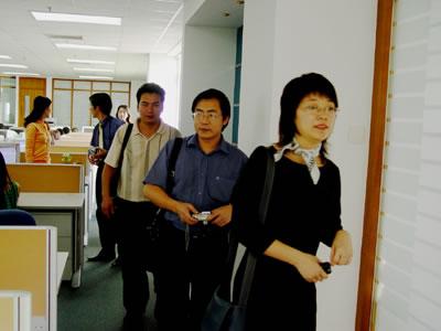 台湾软件代表参观正航软件