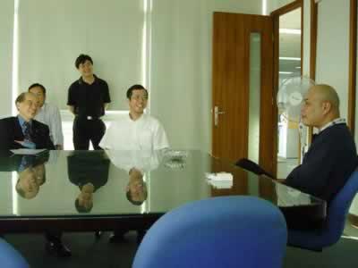 右一为正航赖光郎董事长,右为吴杰局长,左一为王忠正理事长